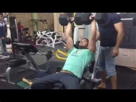 80 lb dumbbell bench press dumbbell bench press 80 kg youtube