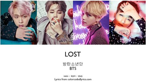 bts lost lyrics 방탄소년단 bts lost lyrics han rom eng color picture