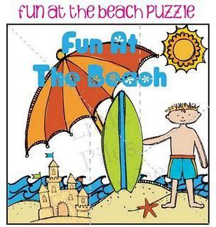 beach themed language arts activities large beach puzzle
