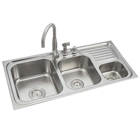 stainless steel sink with drainboard price buy anupam stainless steel bowl sink with