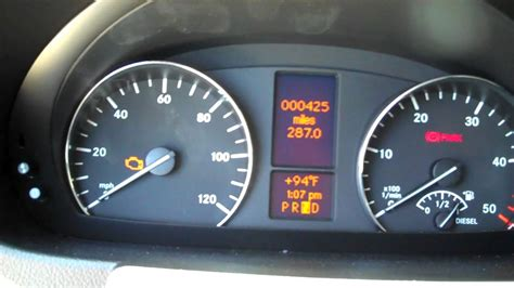 sprinter warning light comes on in your mercedes