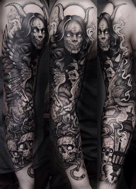 angels and demons tattoo sleeve designs best 25 ideas on