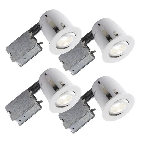 led recessed lighting contractor pack bazz recessed led 4 in white recessed led lighting kit