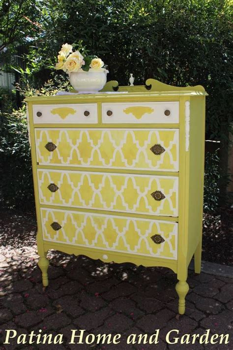 Stencil Dresser by 17 Best Images About Painted Furniture On