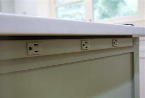Kitchen Island Power Strip | hidden power in the kitchen by