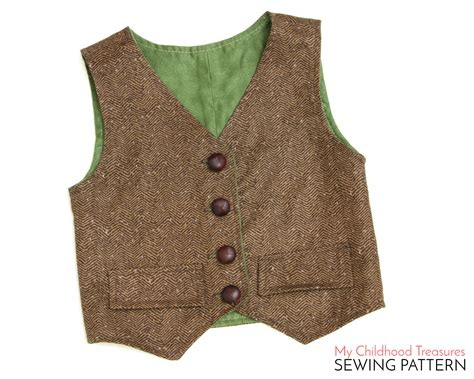sewing pattern simple vest vest pattern boys vest pattern toddler vest pattern girls