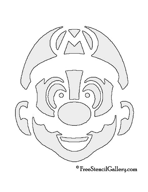 mario brothers pumpkin carving template mario pumpkin stencils www imgkid the image kid