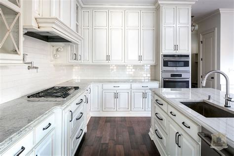 How To Glaze White Kitchen Cabinets Glazed Cabinets Transitional Kitchen Stonecroft Homes