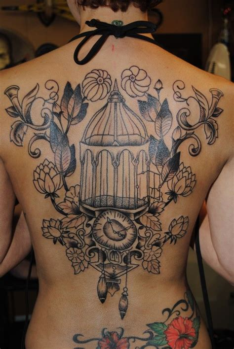 caged bird tattoo 92 best bird cage tattoos images on bird cage
