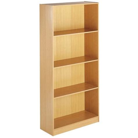 beech bookshelves dams furniture ltd dams furniture maestro 4 shelf bookcase