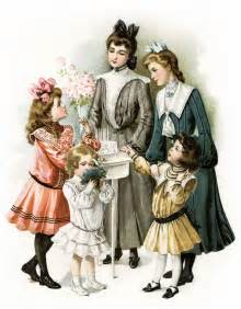 Free vintage image victorian girls prepare for a party old design