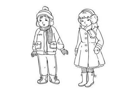 girl clothes coloring page winter coloring pages clothes for boy and girl 607996