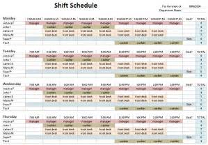 Shift Template by Shift Schedule Template Playbestonlinegames