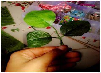 membuat bunga mawar  kain perca pembuatan