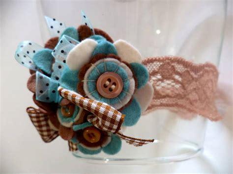 Tiara Brown 514 C tiara ou faixa de renda aqua brown tuyama crafts elo7