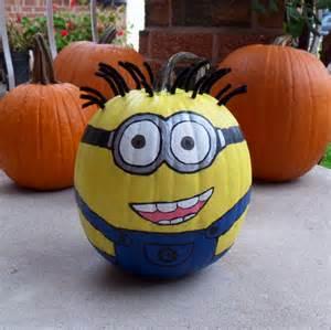 painted pumpkins minion painted pumpkin halloween pumpkins pinterest minion painting holidays and craft