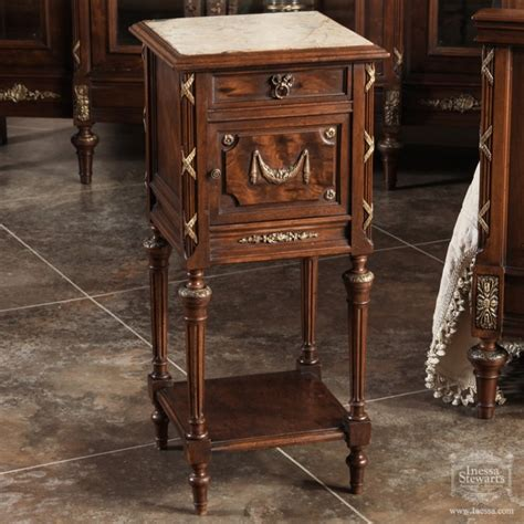Vintage Bedroom Collection Nightstand In Almond Wheat Antique Of The Week Antique Louis Xvi Bedroom Set Antiques In Style