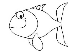 Fish Outline Images by Fish Outline To Colour Clipart Best