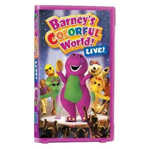 barney colorful world live barney s colorful world live vhs barney