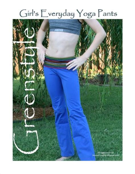 pattern sewing yoga pants girl s everyday yoga pants pdf sewing pattern in sizes xs