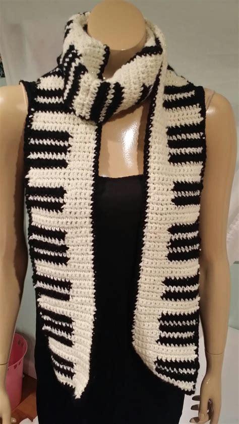 keyboard crochet scarf pattern allfreecrochet