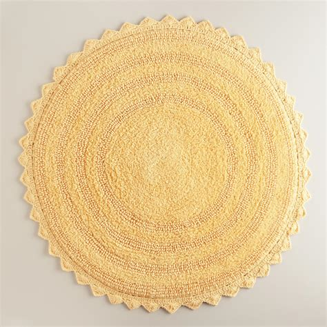 Circular Bath Mat by Cornsilk Yellow Bath Mat World Market