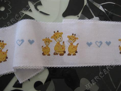 schemi punto croce lenzuolino culla gratis bordura per lenzuolino con giraffe gift