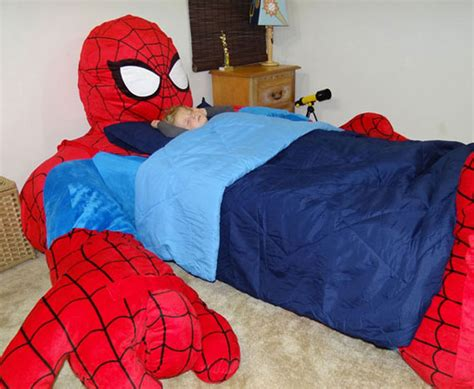 spiderman in bed i d never get out spider man bed incredible things
