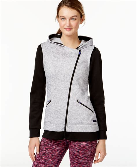 calvin klein performance moto scuba vest with hood calvin klein performance asymmetrical zip hooded jacket in