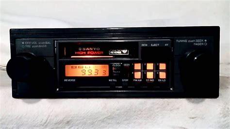 cassette car stereo vintage sanyo ft e10 am fm cassette car stereo