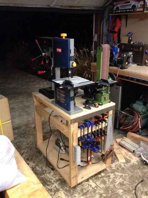 Harbor Freight Portable Bandsaw Stand by Bandsaw Table Woodworking Projects Amp Plans