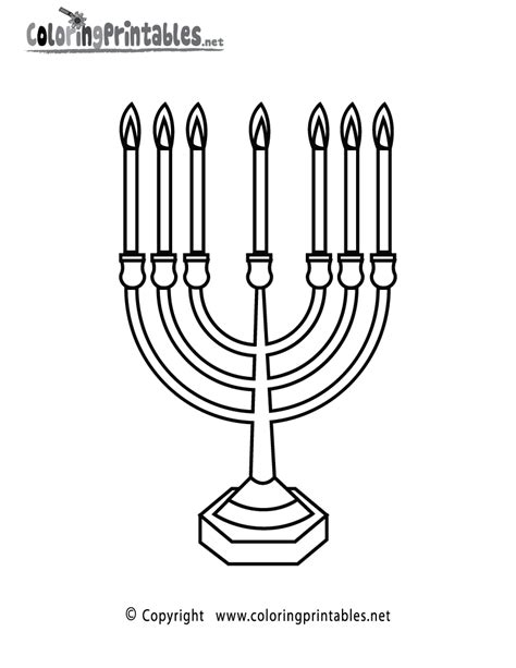 printable images of judaism free coloring pages of candlestick