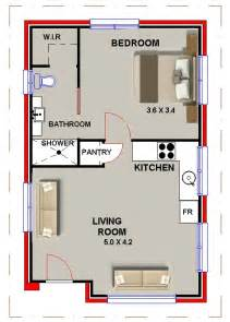 Shower Only Bathroom Floor Plans by Granny Flat 1 Bed Home Office Sleep Ou Guest Quarters