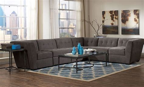 macy s roxanne sectional roxanne sectional sofa granite for the home pinterest