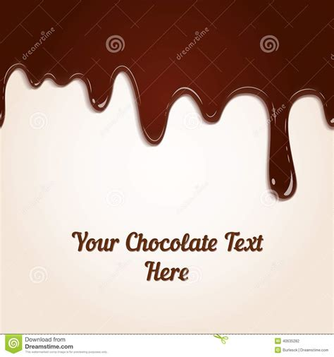 Chocolate Dripping Stock Vector - Image: 40635282 Dripping Chocolate Background