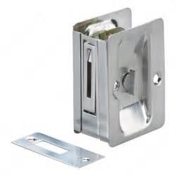 pocket door pull with privacy lock rectangular