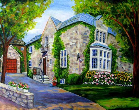 painting of house beautiful westmount home painting by carole spandau