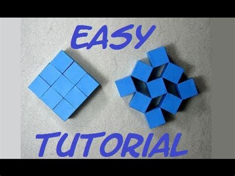Moving Cubes Origami - how to make origami moving cubes easy hd craft
