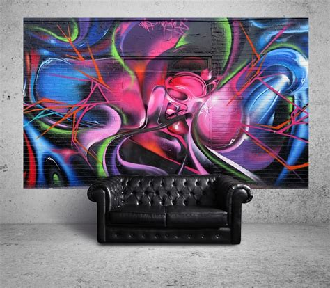 Living Room Wall Murals suumo brings authentic street art into your home
