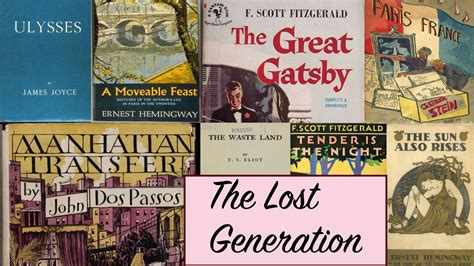 themes in lost generation literature the lost generation writers story time with mr beat