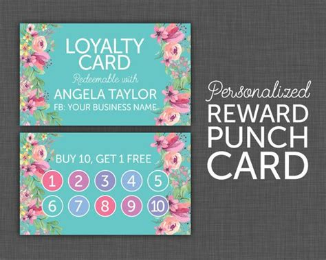 buy 10 get 1 free punch card templates 17 best ideas about loyalty rewards on loyalty