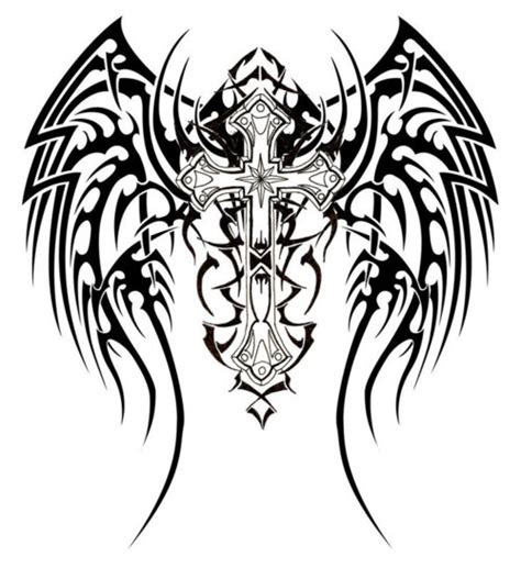 black and white cross tattoos black and white cross cliparts co