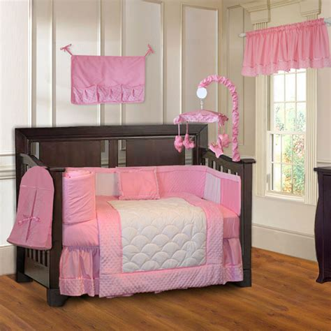 bedding nursery sets babyfad 10 minky pink ultra soft baby crib bedding set ebay