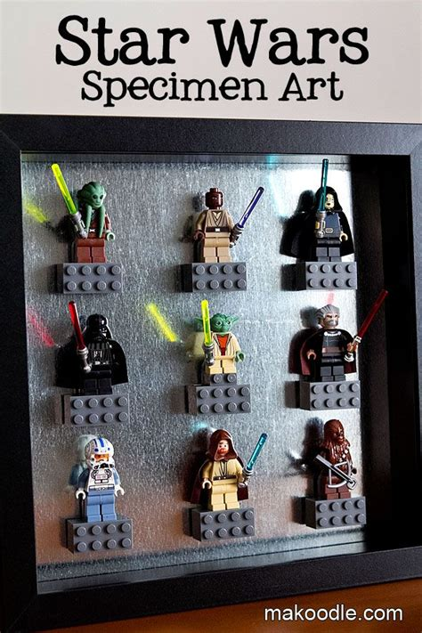 star wars home decorations star wars decor ideas lego specimen art makoodle