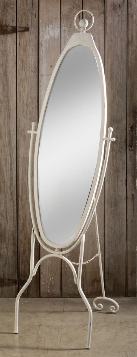 oval shabby chic mirror displaycollections shabby chic oval floor mirror
