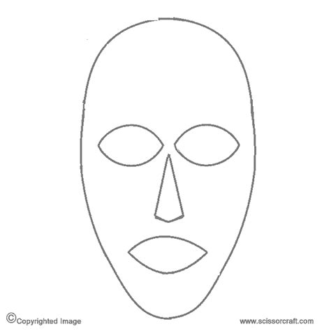 free printable masks templates best photos of blank mask printable template