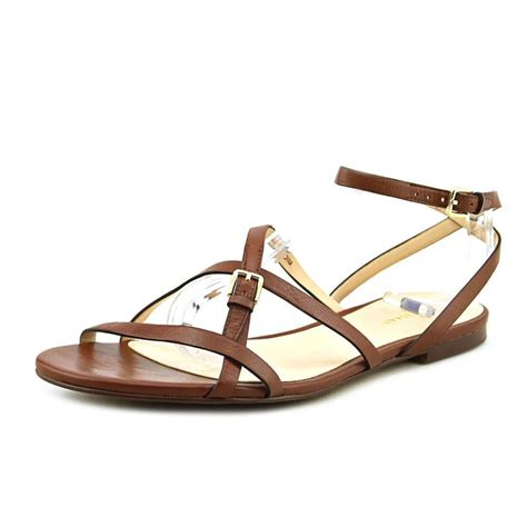 brown sandals cole haan cole haan flat leather brown