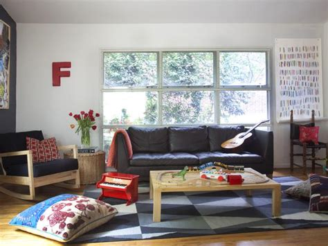 kid friendly living room hgtv
