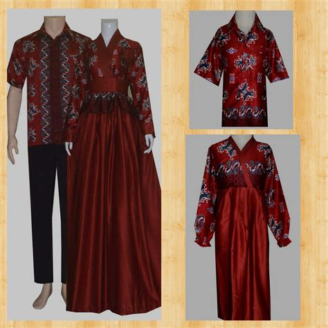 Gamis Batik Muslim 100 gambar gamis batik sarimbit model terbaru dengan jual