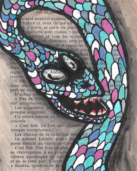 slithering snake books slithering snake painting by jera sky